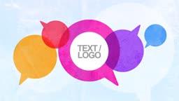 Speech Bubble Logo Reveal