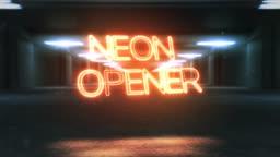 Cinematic Neon Opener