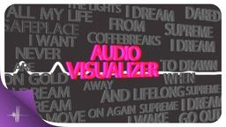 Audio Visualizer Letters with Lyrics