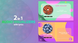 Audio Visualizer Minimal with Lyrics