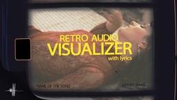 Audio Visualizer Retro with Lyrics