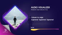 Audio Visualizer with Lyrics