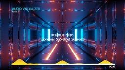 Audio Visualizer with Lyrics Loop animated