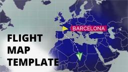 Flight Map Template