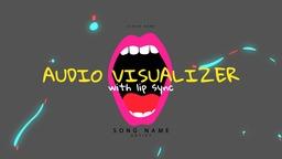 Lips Audio Visualizer with Lyrics