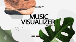Minimal Audio Visualizer with lyrics