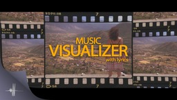 Music Retro Visualizer with lyrics