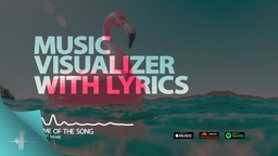 Music Visualizer Color with lyrics