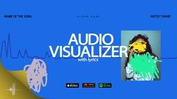Music Visualizer Drawings with Lyrics