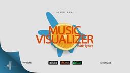 Music Visualizer Minimal Style with lyrics