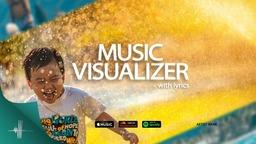 Music Visualizer Photo with Lyrics