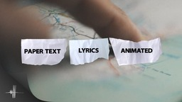 Paper Text Animated