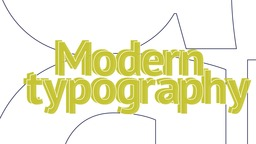 Typography Modern Stomp