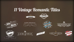 Vintage Romantic Titles