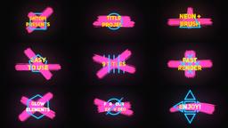 Neon Brush Titles