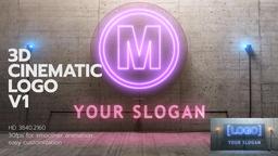 3D Cinematic Neon Logo