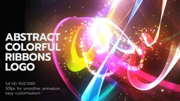 Abstract Colorful Ribbons Logo