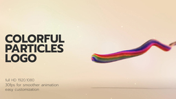 Colorful Particles Logo 1