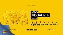 Audio Visualizer Yellow