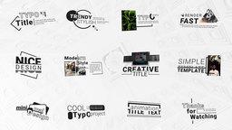 Modern Typo Titles Pack