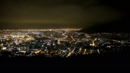 남아프리카 공화국 케이프타운 야경 풍경