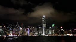 홍콩 섬의 야경 모습