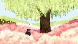 꽃밭에서 나오는 곰과 풍경