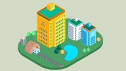 건물과 철도의 모습