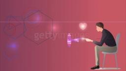 인공지능과 남자의 모습