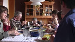 Family eating lunch
