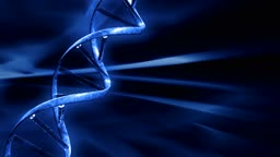 Blue FX Background with rotating DNA string
