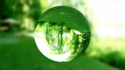 Glass orb or dew