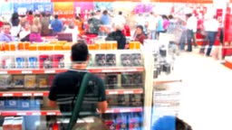 Time lapse in a saturday of shopping
