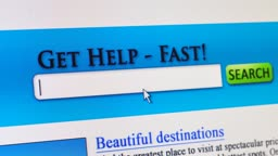 Fictional search engine showing a search for travel deals