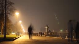 Night streets of big city.