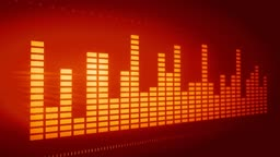 Equalizer on red background