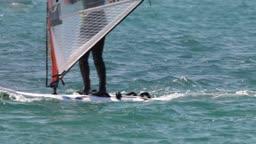 windsurfer race