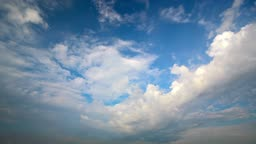 time Lapse of clouds. without birds and defects.