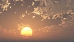 time lapse of sunrise or sunset .