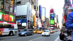 Time lapse of Times Square in the daytime
