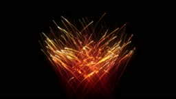St. Valentine`s Day Fireworks heart shape