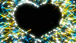 St. Valentine`s Day heart shape and sparkles. Alpha channel is included
