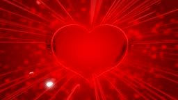 Red St. Valentine`s Day heart shape and sparkles with traces