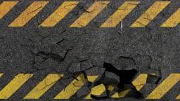 breaking asphalt hazard