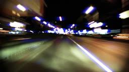 Night drive time lapse