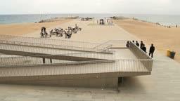 Zugang zum Strand von Barcelona