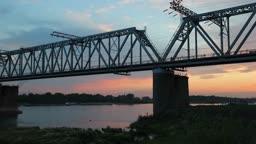 bridge sunset, time-lapse