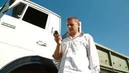 Truck Driver Using Mobile Phone
