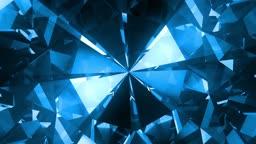 Big blue spinning diamond