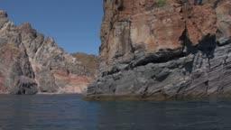 Mediterranean rocky coast, eolian island, Italy